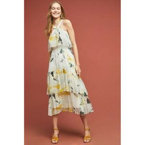 New $240 Anthropologie Garden Chiffon Party Dress